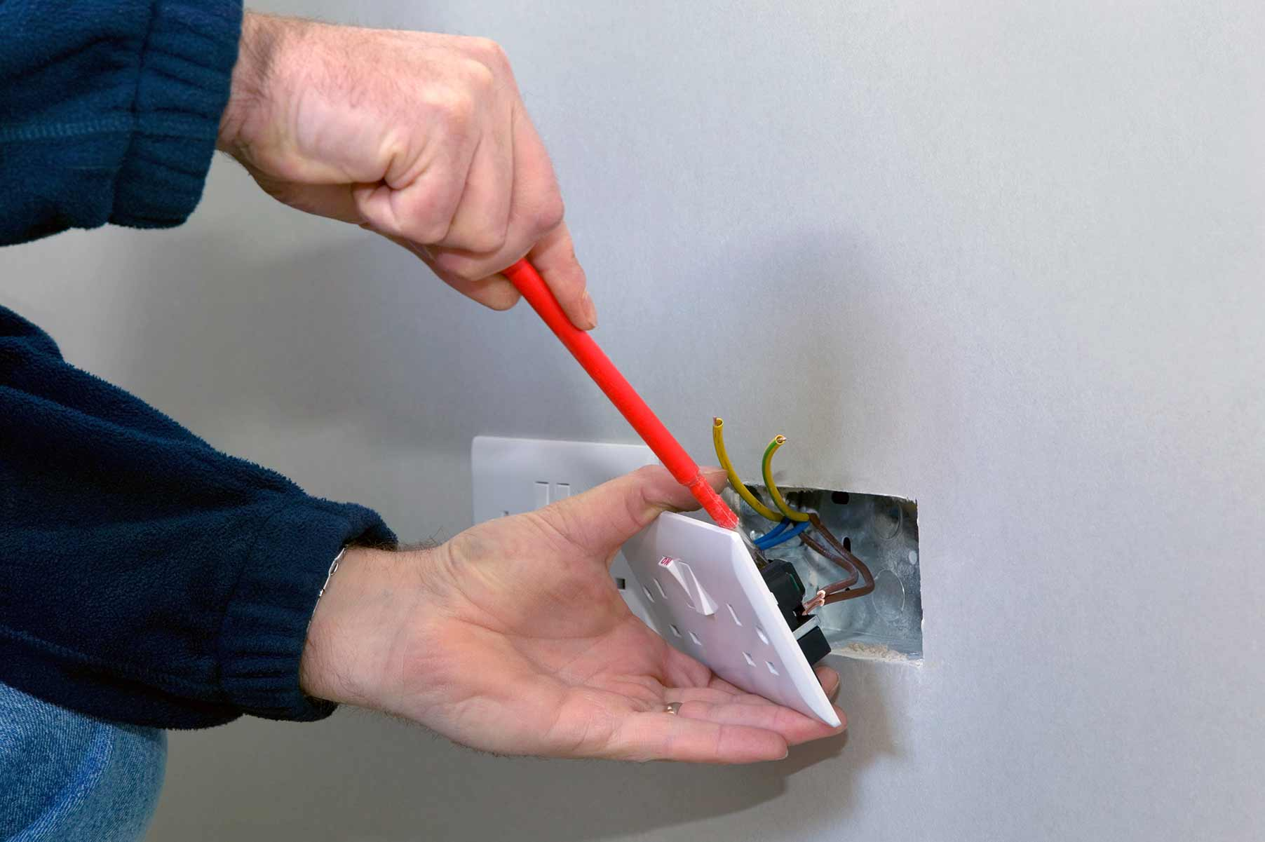 Our electricians can install plug sockets for domestic and commercial proeprties in Parsons Green and the local area.